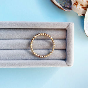 9ct Gold Bobble Stacking ring
