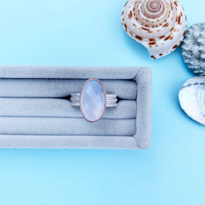 9ct Rose Gold & Chalcedony ring