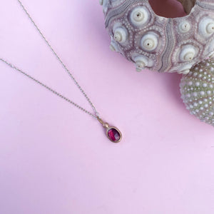Pink Tourmaline and 18ct Rose Gold necklace