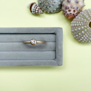 Brilliant Cut Diamond and 18ct Gold Ring