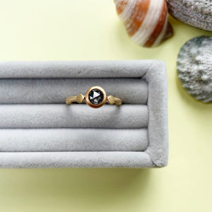 22ct and 18ct Gold Salt and Pepper Diamond Ring