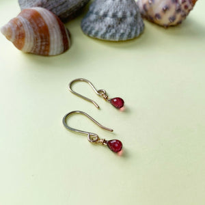 9ct Gold and Garnet Earrings