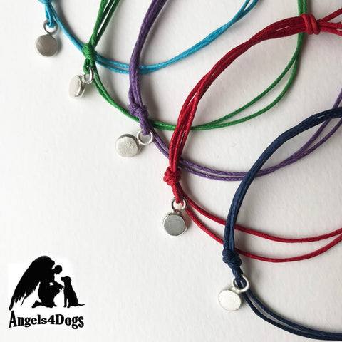Angels 4 Dogs charity bracelet, mens
