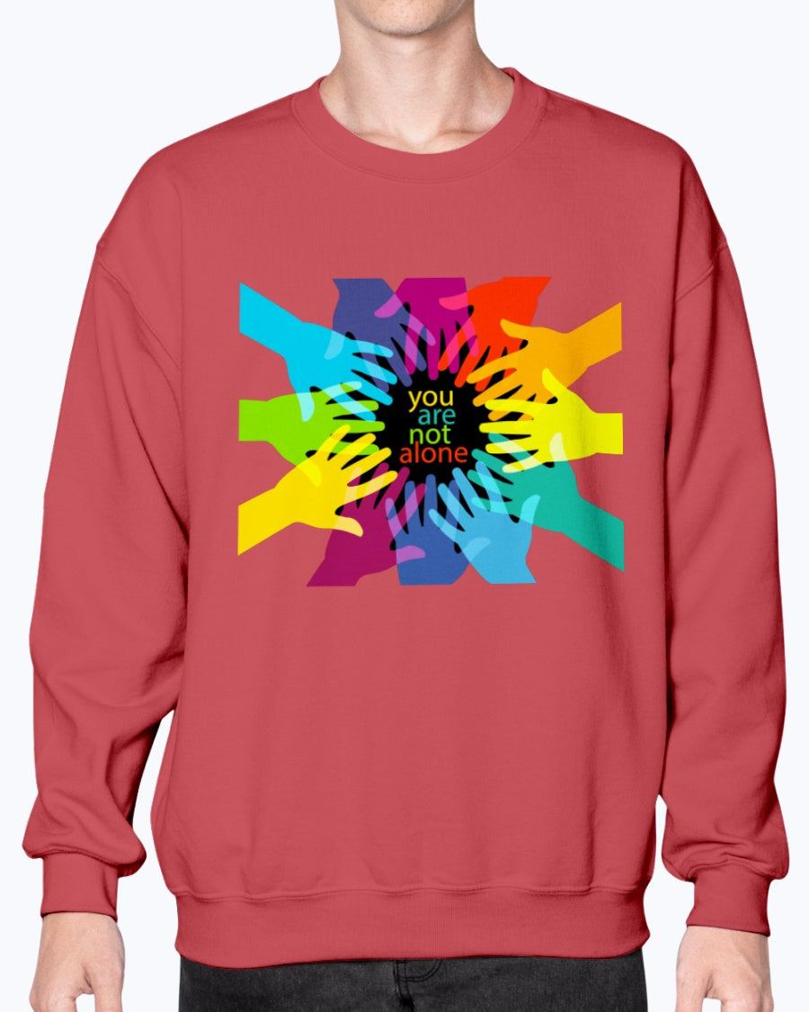 You are not alone | Colorful Sweatshirt & Hoodie