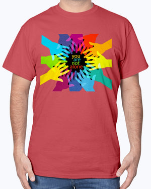 You are not alone | Colorful Tees