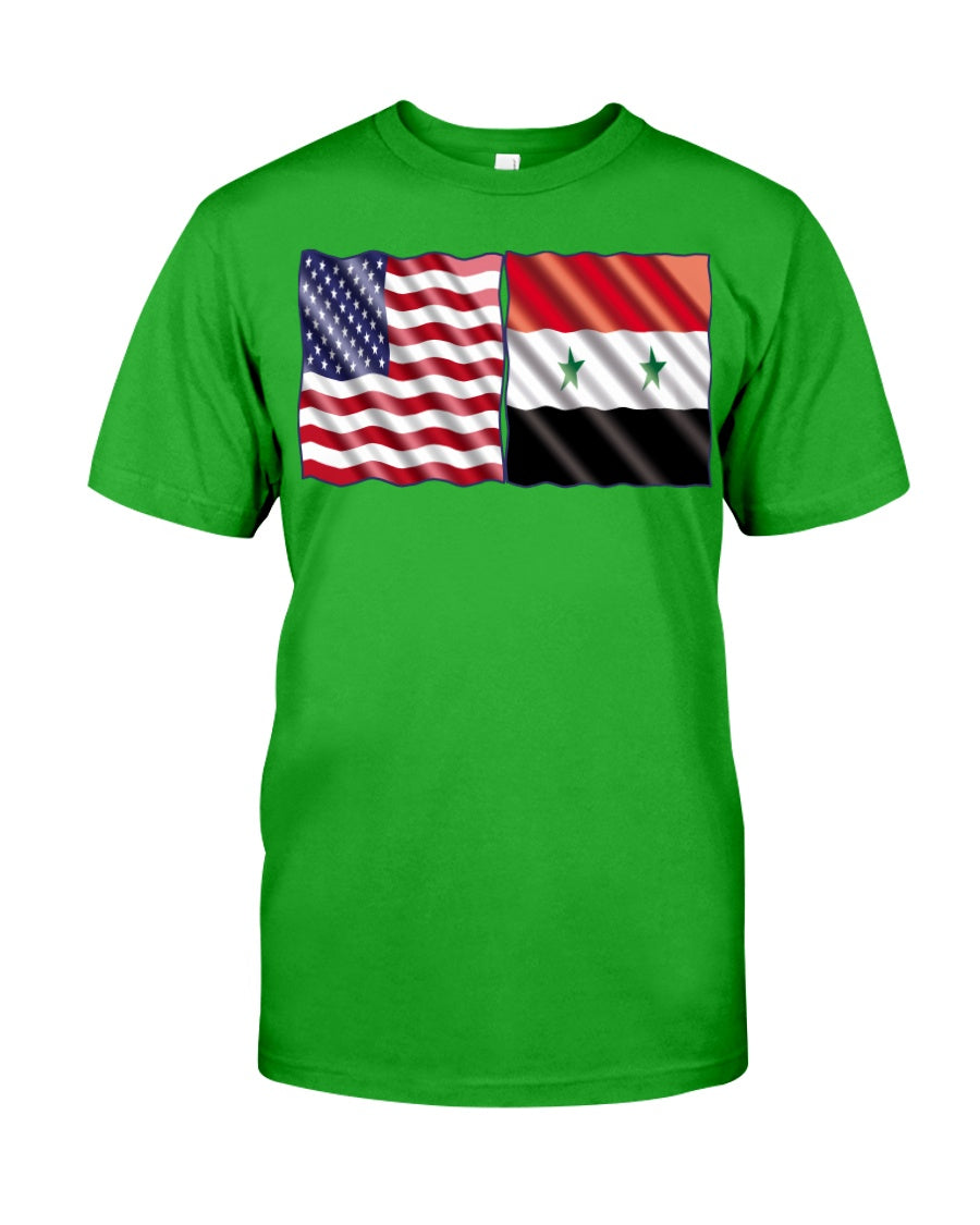 Syrian American Flag Shirts for Youth & Adults
