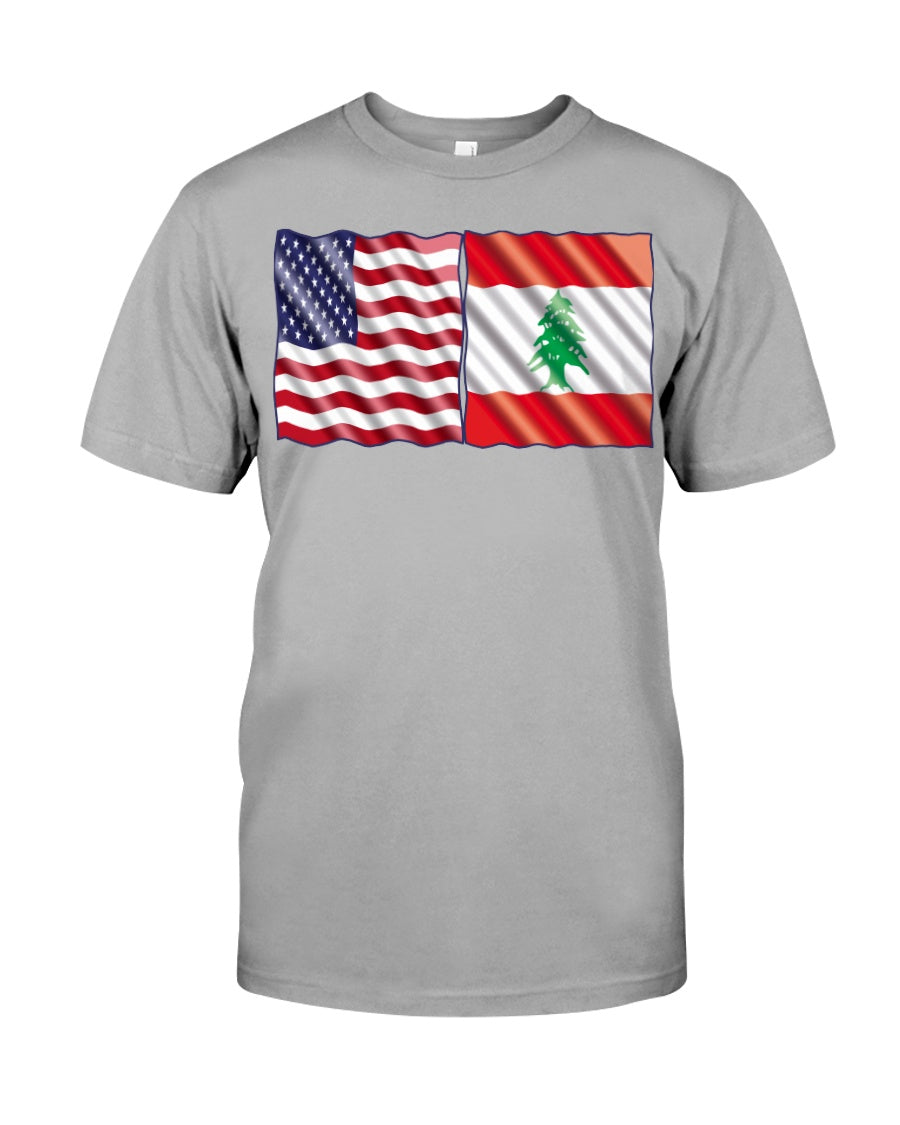 Lebanese American Flag Shirts for Youth & Adults