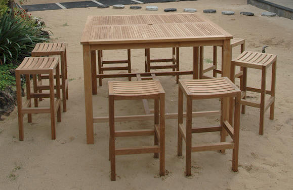 Teak Bar Furniture Bar Stools Chairs Bar Tables For Any Setting - Teak pub table and chairs