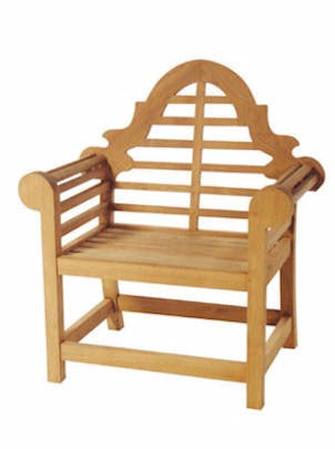 Teak wood Adirondack chair