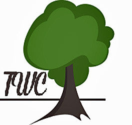 Tree and text TWC - as logo for teakwoodcentral