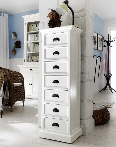 Danish Furniture | White Mahogany 7-Drawer High Chest | H12109 -  Furniture - Teakwood Central