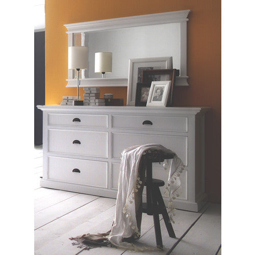 Danish Furniture | White Mahogany Dresser w/ 6 Drawers. | H12512 -  Furniture - Teakwood Central