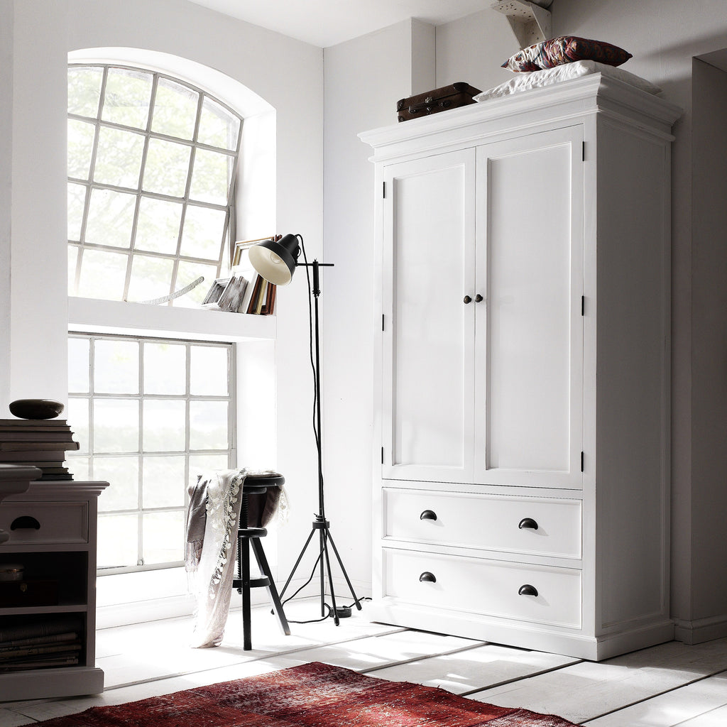 Danish Furniture | Mahogany Wardrobe with Drawers & Double Doors. | H12628 -  Furniture - Teakwood Central