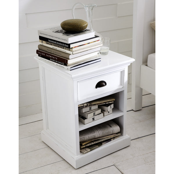 Danish Furniture | Bedside Table w/ Drawer & 2 Horizontal Shelves. | H12789 -  Furniture - Teakwood Central