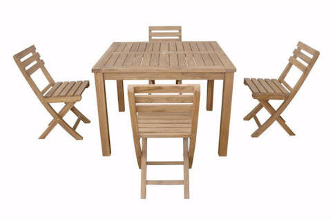 "Chapman | 42"" Square Table w/ 4 Folding Chairs by Chapman 