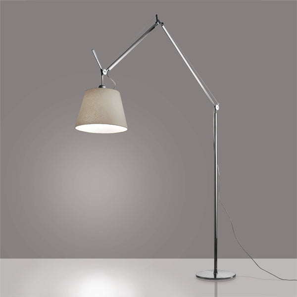 artemide tolomeo mega led floor lamp am tomeled teakwood central. Black Bedroom Furniture Sets. Home Design Ideas