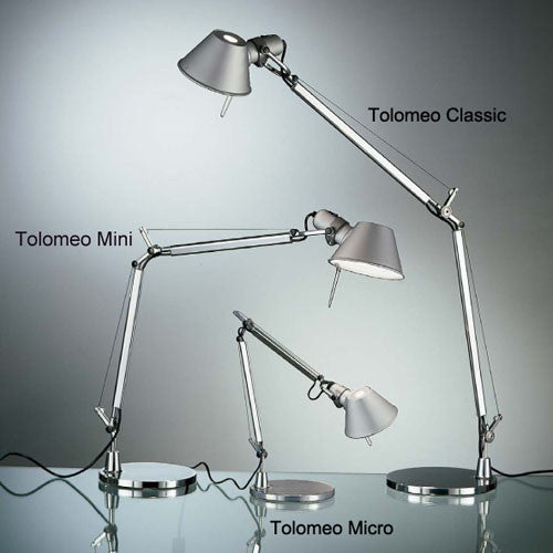 Artemide Tolomeo Led Table Task Lamp Mini Midi Classic Teakwood