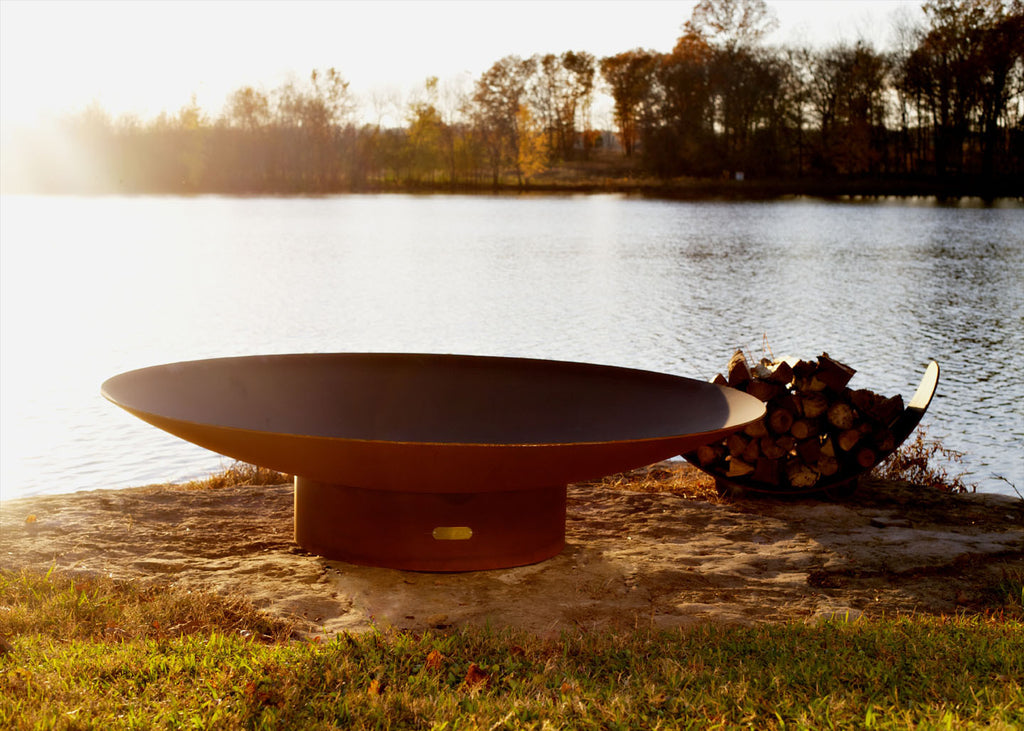 Fire Pit Art - Asia 72 inch Modern Asian Inspired Fire Pit (FPA-AS-72) -  Fire Pits - Teakwood Central