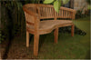 Anderson Teak | Curve 3-Seat Thick Teak Garden Bench |BH-005CT -  Furniture - Teakwood Central