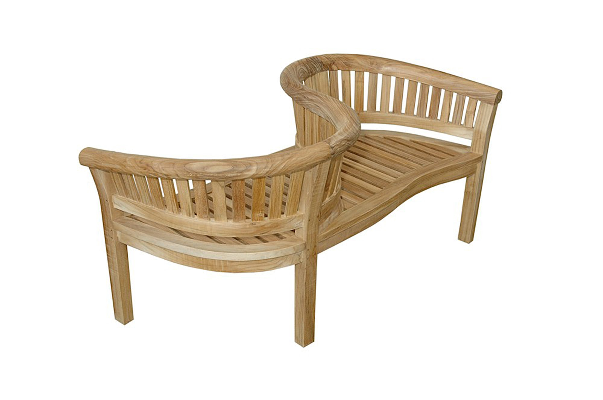 anderson teak curve teak love seat garden bench bh 202ls furniture - Wooden Garden Furniture Love Seats