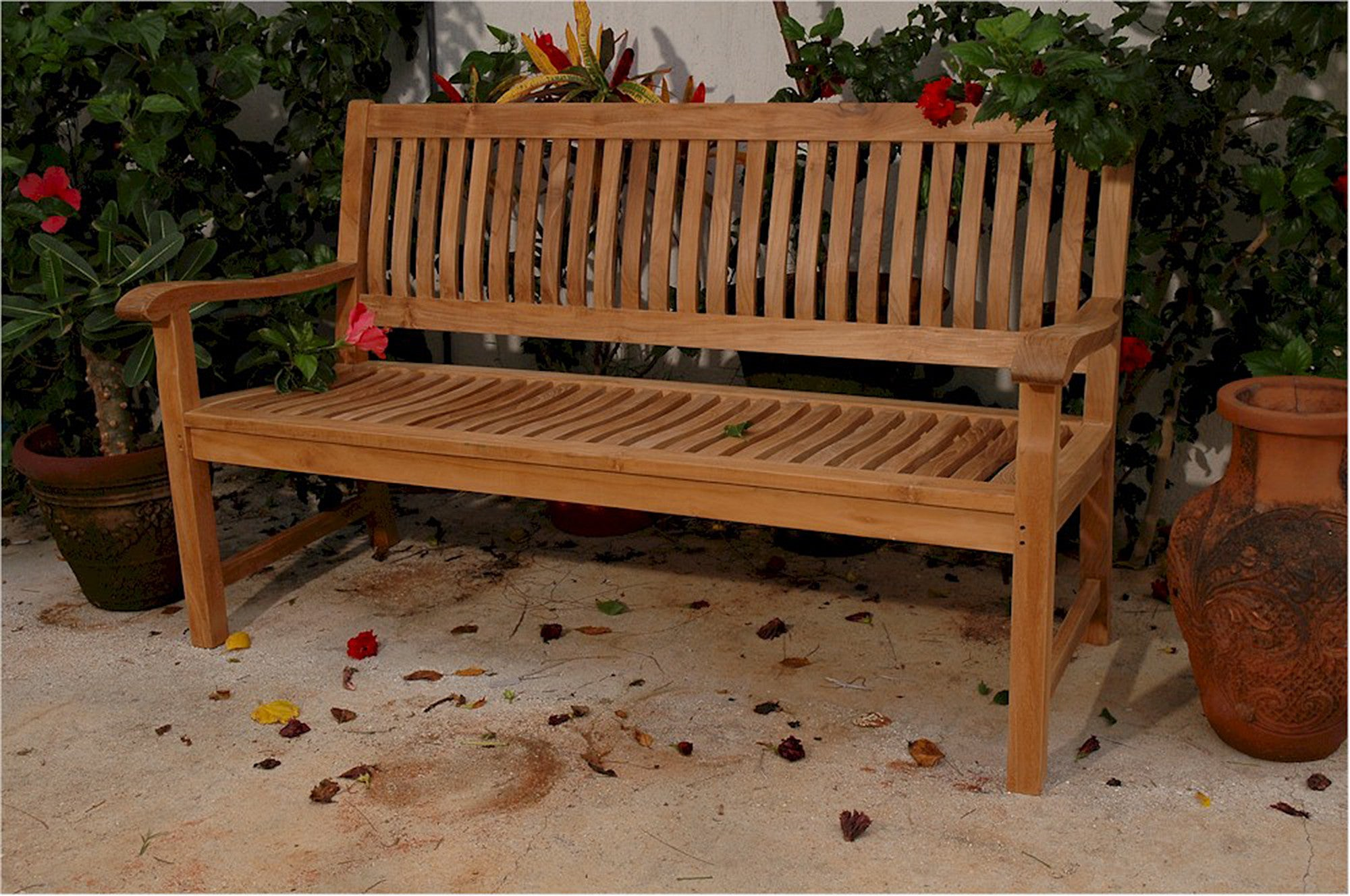 Anderson Collection | Solid Del-Amo 3-Seat Teak Garden Bench ...
