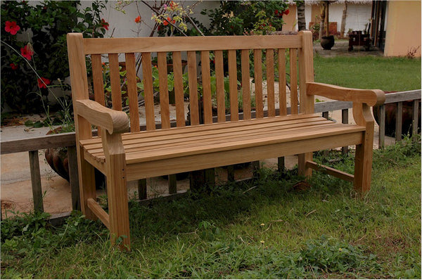 Anderson Teak | Devonshire 3 Seat Garden Bench Extra Thick Wood |BH-705S -  Furniture - Teakwood Central