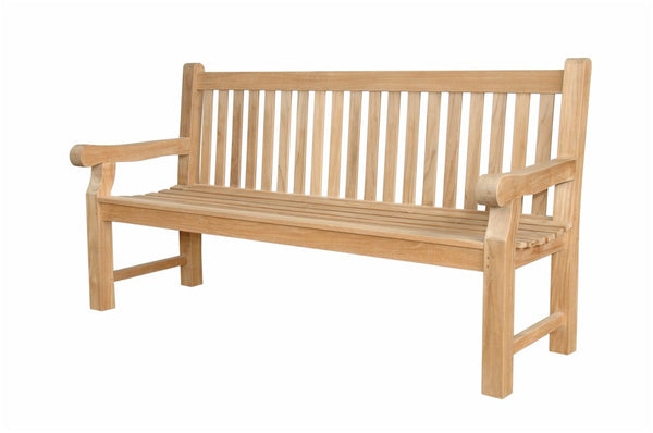Anderson Teak | Devonshire 3 Seat Teak Garden Bench w/Flower |BH-705SH -  Furniture - Teakwood Central