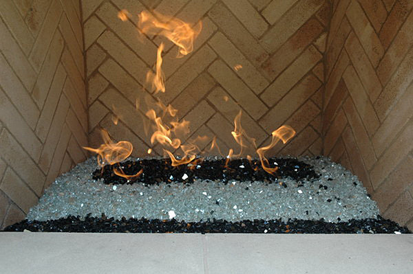 "1/2"" Premium Reflective Fire Glass per 5 lbs 