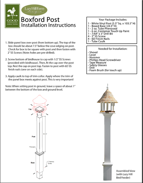 Installation Guide for Bird House/Feeder Posts