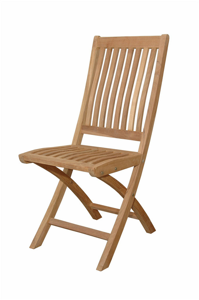 Anderson Teak | Tropico Folding Teak Chair - Set of 2 Chairs |CHF-104 -  Furniture - Teakwood Central