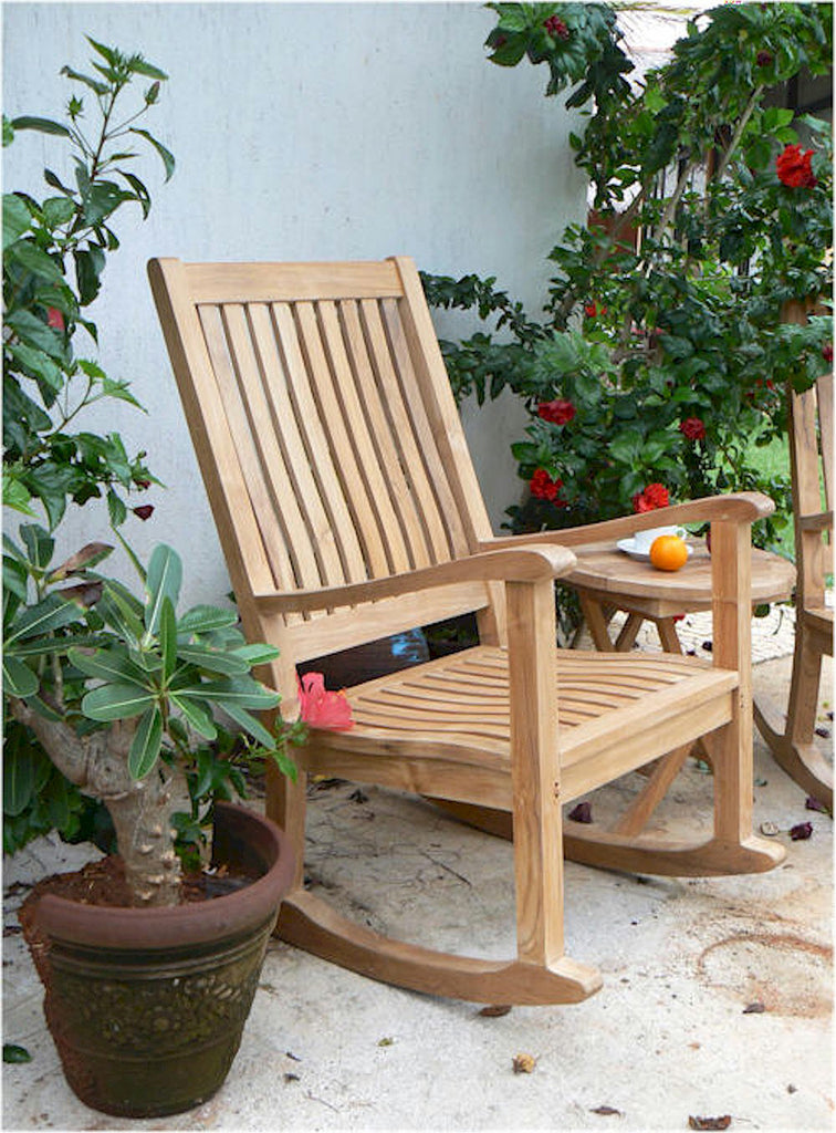 Anderson Teak | Del Amo Rocking Teak Armchair |CHR-101 -  Furniture - Teakwood Central