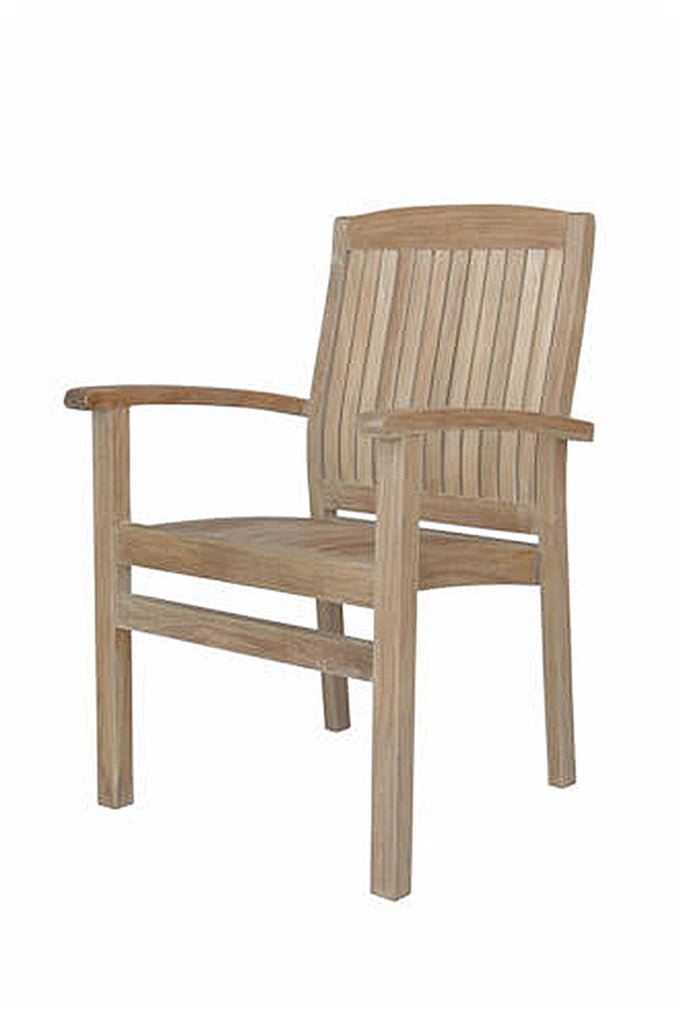 Anderson Teak | Sahara Stackable Dining Armchair, Set of Four |CHS-022 -  Furniture - Teakwood Central