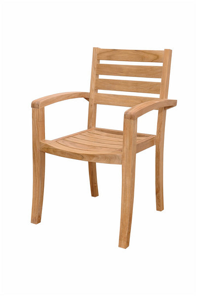 Anderson Teak | Stackable Teak Armchair Catalina  Set of 4 Chairs |CHS-033 -  Furniture - Teakwood Central