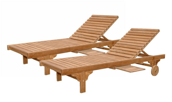 Anderson | Capri Teak Sun Lounger Set of 4 Loungers |SET-SL-071 -  Furniture - Teakwood Central