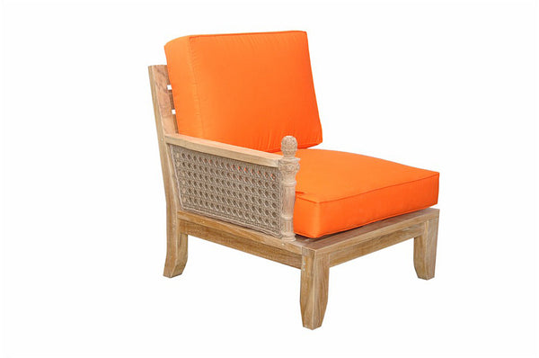 Luxe Modular Deep Seating Corner Armchair w/Cushion Color Choice |DS-502 -  Furniture - Teakwood Central