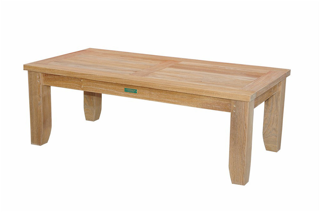 Anderson Teak | Luxe Rectangular Teak Coffee Table |DS-506 -  Furniture - Teakwood Central