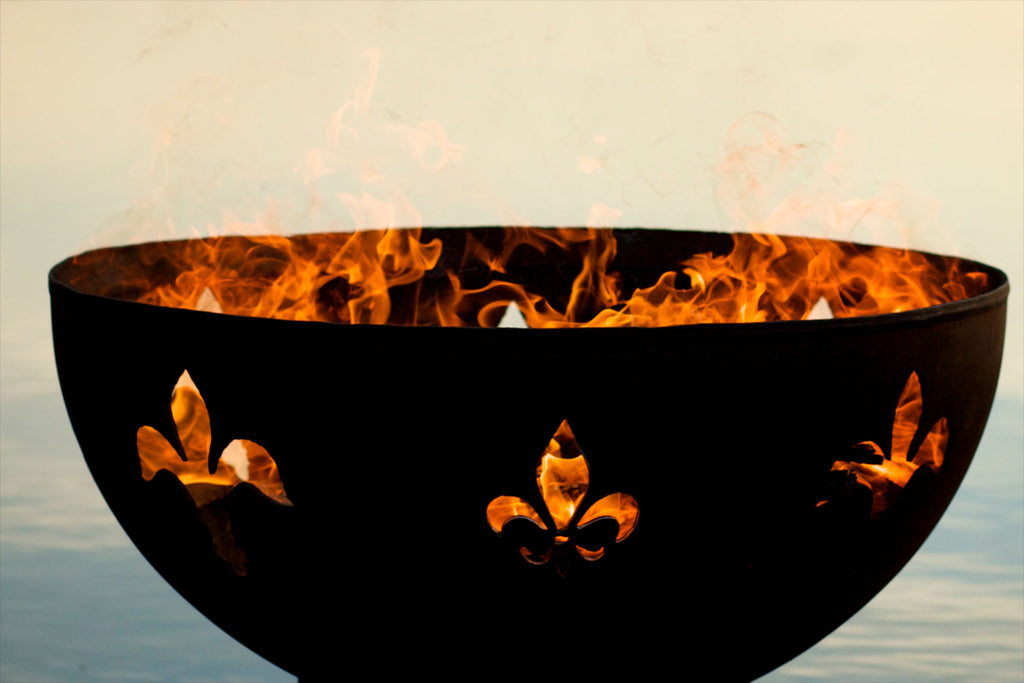 Fire Pit Art - Fleur de Lis 36"
