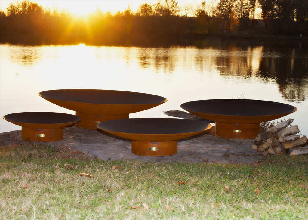 Fire Pit Art - Asia 60 inch Modern Asian Inspired Fire Pit (FPA-AS-60) -  Fire Pits - Teakwood Central