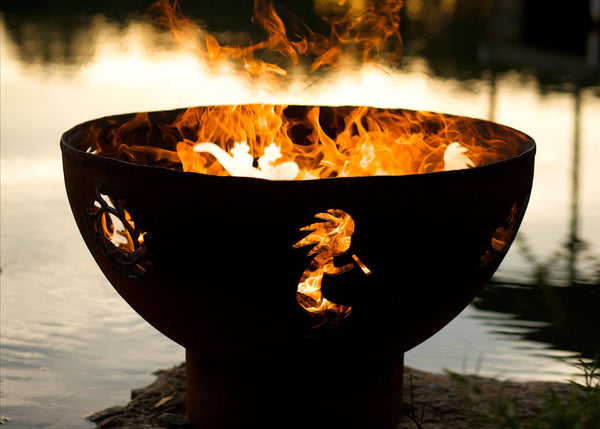 "Fire Pit Art | Kokopelli 36"" Thick Carbon Steel Fire Pit (FPA-KO) -  Fire Pits - Teakwood Central"