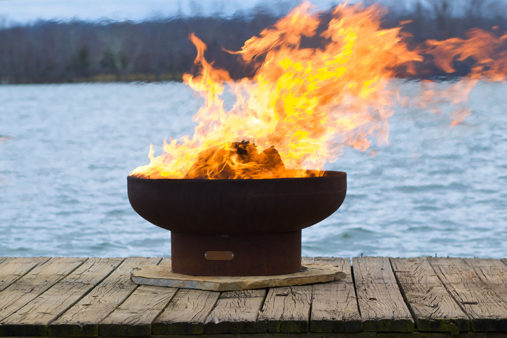 "Fire Pit Art | Low Boy Classic 36"" Fire Pit (FPA-LB) -  Fire Pits - Teakwood Central"
