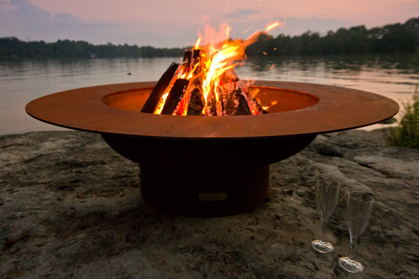 "Fire Pit Art | Magnum 54"" Artisan Carbon Steel Fire Pit (FPA-MAG) -  Fire Pits - Teakwood Central"