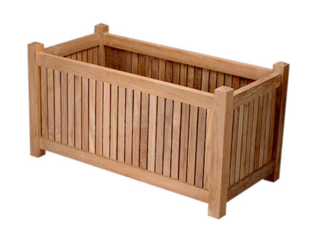 Anderson Teak | Rectangular Teak Planter Box |PL-003 -  Garden Décor - Teakwood Central