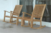 "Anderson Teak | 2 Rocking Chairs Set w/ 20"" Square Table 