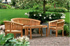 Anderson Teak | Curve Bench w/ Armchair &  Coffee Table Set |SET-5