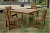 Anderson Teak | Classic Chair & Windsor Table Patio Dining Set for 4 |SET-101B -  Furniture - Teakwood Central