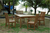 Anderson Teak | Windsor / Chicago 5 Piece Teak Patio Dining Set |SET-102 -  Furniture - Teakwood Central