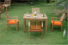"Anderson Teak | 47"" Square Table & 4 Armchairs Teak Dining Set 