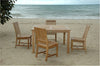 "Anderson Teak | Rialto Dining Chairs & 47"" Square Table Patio Set 