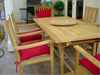 Anderson Teak | 8' Rectangle Table w. 8 Armchairs Dining Set |SET-112A -  Furniture - Teakwood Central