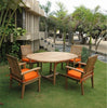 "Anderson Teak | Bahama 67"" Oval Extension Teak Table /6 Armchairs 